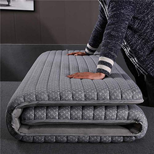 AICKERT Colchón Látex 90 * 200cm~180 * 200cm Tatami Japonés Confort futón Enrollable Funda antialérgica colchón Cama Plegable Cubre colchón,Gray,120 * 190cm