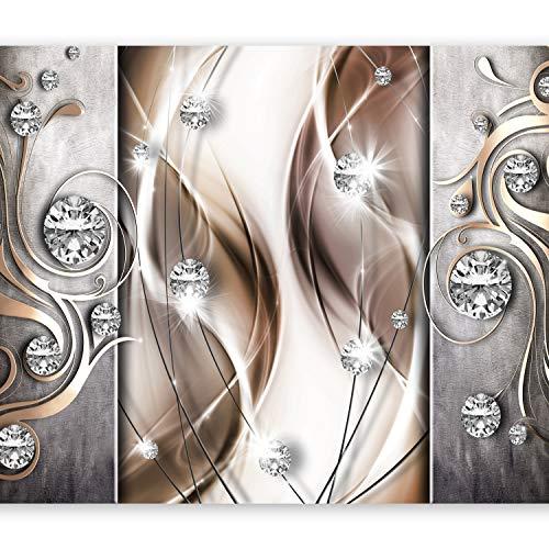 murando Papier peint intissé 350x256 cm Décoration Murale XXL Poster Tableaux Muraux Tapisserie Photo Trompe l'oeil abstraction Diamant a-A-0153-a-c