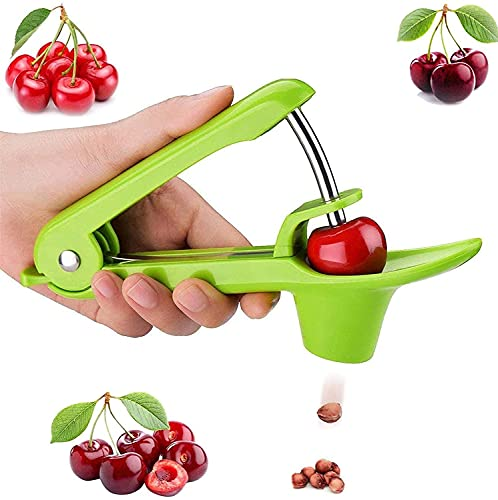 Cherry Pitter Tool Cherry Pit Remover Tool Pit Remover for Cherries Olive Pit Remover HeavyDuty Cherry Seed Remover Cherry Corer Pitter Tool for Cherries Jam Stainless Steel / Durable