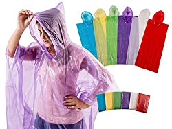 Woman wearing purple poncho from Amazon. A easy way to budget for Disney World.
