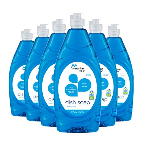 Mountain Falls Ultra Concentrated Dish Soap, Clean Scent, 24 Fluid Ounce (Pack of 6)