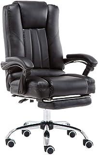 Daban Tai high chair, rotatable, ergonomic, adjustable computer, integrated lumbar support, leg rest with nylon leg (Black)