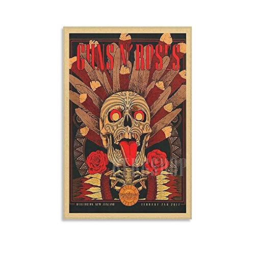ZZPQ Creative Poster for Rock Band Guns N'Roses Poster Decorative Painting Canvas Wall Art Living Room Posters Bedroom Painting 12×18inch(30×45cm)