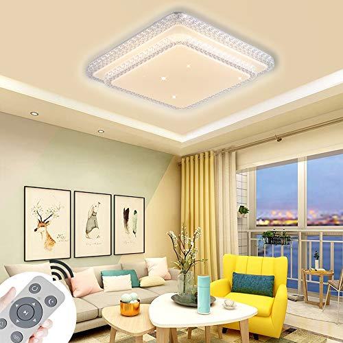 LED Deckenleuchte 80W Dimmbar Quadrat Deckenlampe Kristall Plastik Sternenlicht Lampe Kreative Energiesparlampe für Flur Wohnzimmer Schlafzimmer Küche Büro