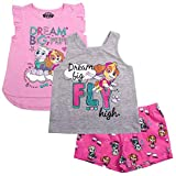 Paw Patrol Little Girls' Toddler Three-Piece Short Set, Pink, 4T