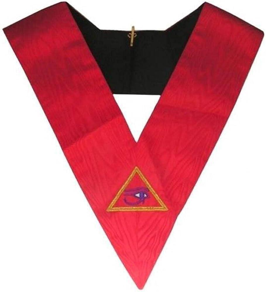 Masonic Memphis Misraim Hand Embroidered Collar - 90 Degree