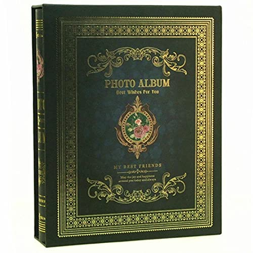 FWJSDPZ Álbum De Fotos Álbum Intersticial Familia Foto De Almacenamiento Álbum De Almacenamiento Caja Lateral Tornillo Boding Boda Album (Color : B)