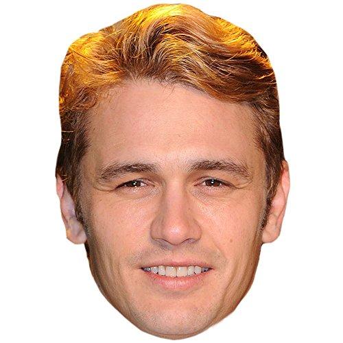 James Franco Celebrity Mask, Flat Card Face, Fancy Dress Mask