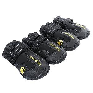 MagiDeal 4pcs Bottes Chien Imperméable Anti-dérapant Chaussettes Chaussures Chaudes pour Animaux