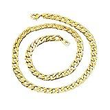 BoomYou Catena d'oro falsa Collana Faux 18K Placcato oro Twist Rope Jewelry - 7mm - Oro
