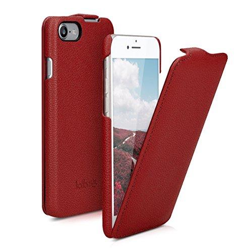 kalibri Flip Hülle Ultra Slim kompatibel mit Apple iPhone 7/8 / SE (2020) - Leder Hülle Schutzhülle Tasche in Rot