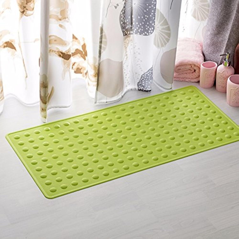 XYZHFBathroom mats toilet kitchen antiskid ground mat rubber belt sucker bathtub pad 40  70cm green