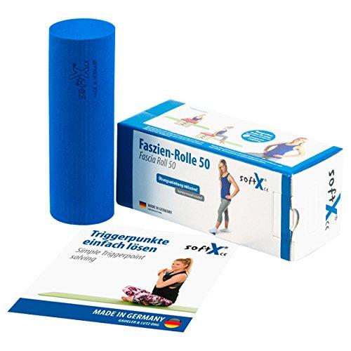 softX Faszien Trainingsgerät Rolle 50, blau, ca. 15 x 5 x 5 cm