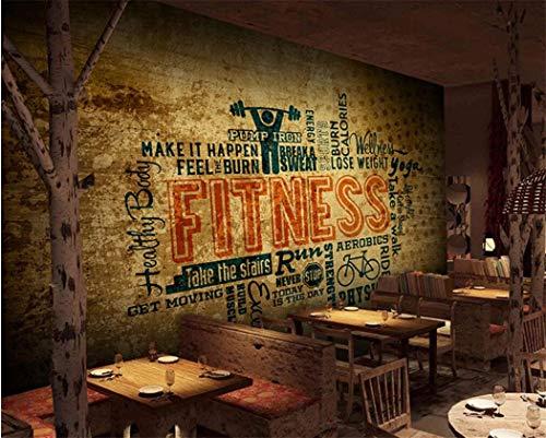 Tapete Fototapete Vlies Tapete 3D Tapeten Brief Industrie Wind Graffiti Tapeten Bar Restaurant T Ziegel Dekoration Wandbild Tapeten An Der Wand