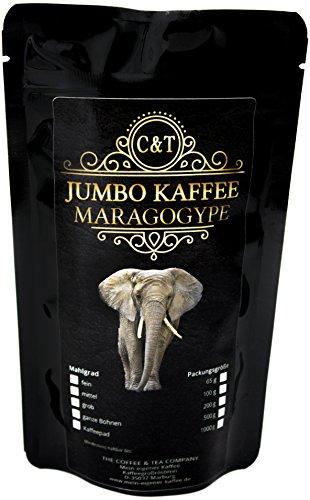 Kaffee Globetrotter - Echte Raritäten (Ganze Bohne, 1000g) Maragogype Riesenbohnen - Raritäten Spitzenkaffee - Werden Sie Zum Entdecker!