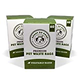 Biodegradable Dog Poop Bags | Compostable Dog Waste Bags, Unscented, Vegetable-Based & Eco-Friendly, Premium Thickness & Leak Proof, Easy Detach & Open, Supports Rescues (3-Pack (180 ct))