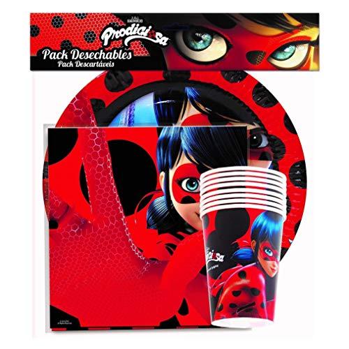 Generique - Pack de Vaisselle Ladybug