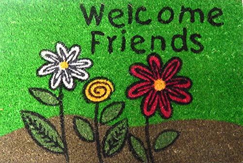 Welcome Friends deurmat robuust 100% kokosvezels natuur 40 x 60 cm