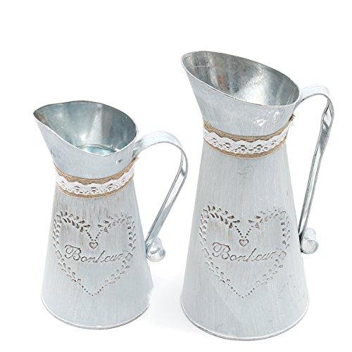 MASUNN Rustieke IJzeren Kruik Vintage Landelijke Stijl Pitcher Bloem Metalen Vaas Plant Watering Pot, S, 1