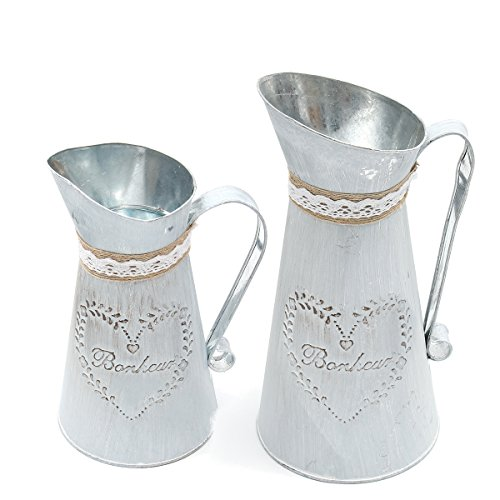 Tutoy Rustikal Eisen Krug Jahrgang Land Stil Krug Flower Metall Vase Pflanze Topf -