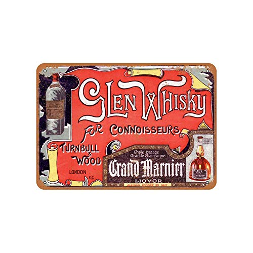 43LenaJon 1927 Glen Whiskey and Grand Marnier Vintage Look Metal Sign