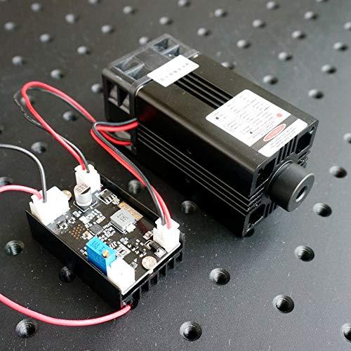 4W Industry Laser 445nm / 447nm / 450nm 4000mW Blue Laser Dot Module Diode NDB7A75 w / TTL0-20kHz y ventilador de enfriamiento y trabajo de larga duración