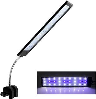 MingDak Aquarium Light for Fish Tanks Clip on Fish Tank Light 48 LEDs White & Blue for 1-5.5 Gallon