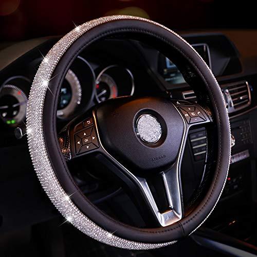 ZIMAwd 38 cm Coprivolanti universali per Auto Accessori per Auto con Strass di Cristallo per Donne Ragazze