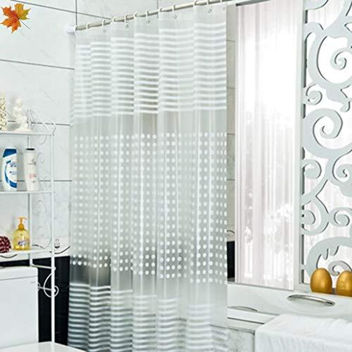 Douchegordijn, anti-schimmel, lang, douchegordijn, PVC, waterdicht, douchegordijn (kleur: 220 cm breed, 200 cm hoog)