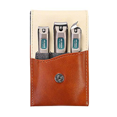 Set manicure con custodia da viaggio portatile, tagliaunghie regalo e set per famiglia, acciaio inossidabile di grado medicale (4 pezzi) (Mr-6038)