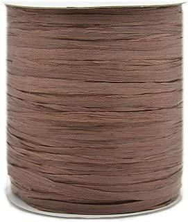 273 Yards Natural Cotton Raffia Yarn Crochet Summer Sun Hat Yarn,Beach Bag Yarn,Coffee Brown Crochet Raffia Yarn,Straw Yarn,Crochet Knit Yarn