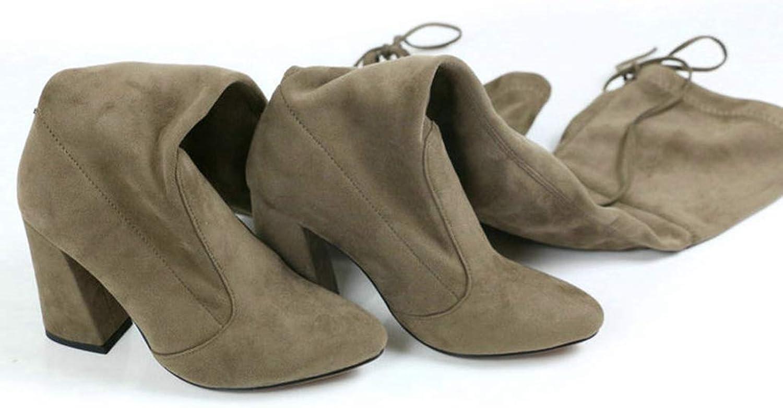 Warm Women Knee High Winter Boots Short Plush Inside Keep Warm Ladies Fashion Sexy Hoof Heels Snow Boots