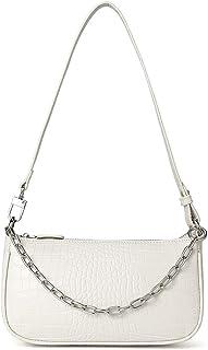 WESTBRONCO Damen Unterarmtasche im Retro-Stil, Damen Umhängetaschen aus Krokodilmuster Leder, Vintage Kleine Schultertasch...