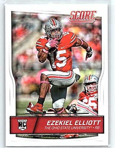 Football NFL 2016 Score Rookies #344 Ezekiel Elliott RC