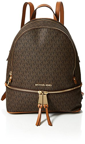 Michael Kors Rhea Zip, Borsa a Zainetto Donna, Marrone (Brown), 12.7x31.8x24.1 centimeters (W x H x L)