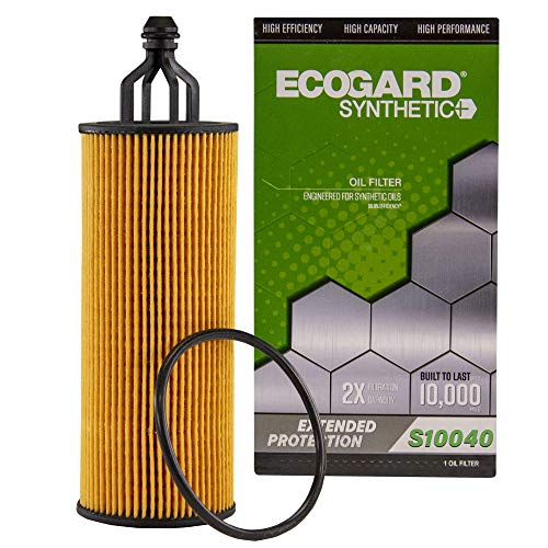 ECOGARD S10040 Premium Cartridge Engine Oil Filter for Synthetic Oil Fits Chrysler Town & Country 3.6L 2014-2016, Pacifica 3.6L 2017-2020, 300 3.6L 2014-2019, 200 3.6L 2014-2017