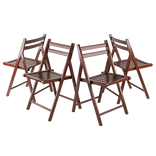 Winsome Wood Robin Seating, Walnut (Set of 4)