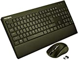 VicTsing Wireless Keyboard and Mouse Combo[Fatigue Reliever], 2.4G Full Size Keyboard