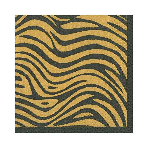Caspari Serengeti servet Luncheon, 20 stuks papier, oker, 16,5 x 16,5 x 3 cm