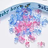 SUNXIN 100 pcs. Mini Schnuller Baby Dusche Bevorzugungs Partei Dekorationen Taufe -Transparente Blau...