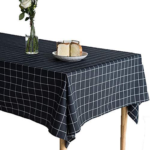 Tafelkleed, water- en oliebestendig, waterdicht, slijtvast katoenen tafelkleed, frisse Scandinavische stijl, minimalistische kunst, handtas-plaid, doek, tafelkleed, tafel, stofdichte tafelkleden