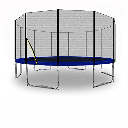 BL-T370-KS12 (BW) Kid(S)port Trampolino da giardino 370cm - 12ft - 'Strong Rete di sicurezza' - TÜV/GS/CE