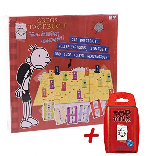 Gregs Tagebuch - Brettspiel + Top Trumps Spiel Gesellschaftsspiel Kinder Jugendliche