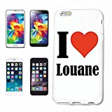 Helene - Carcasa para Samsung Galaxy S7 Edge, diseño con texto 'Love Louane'
