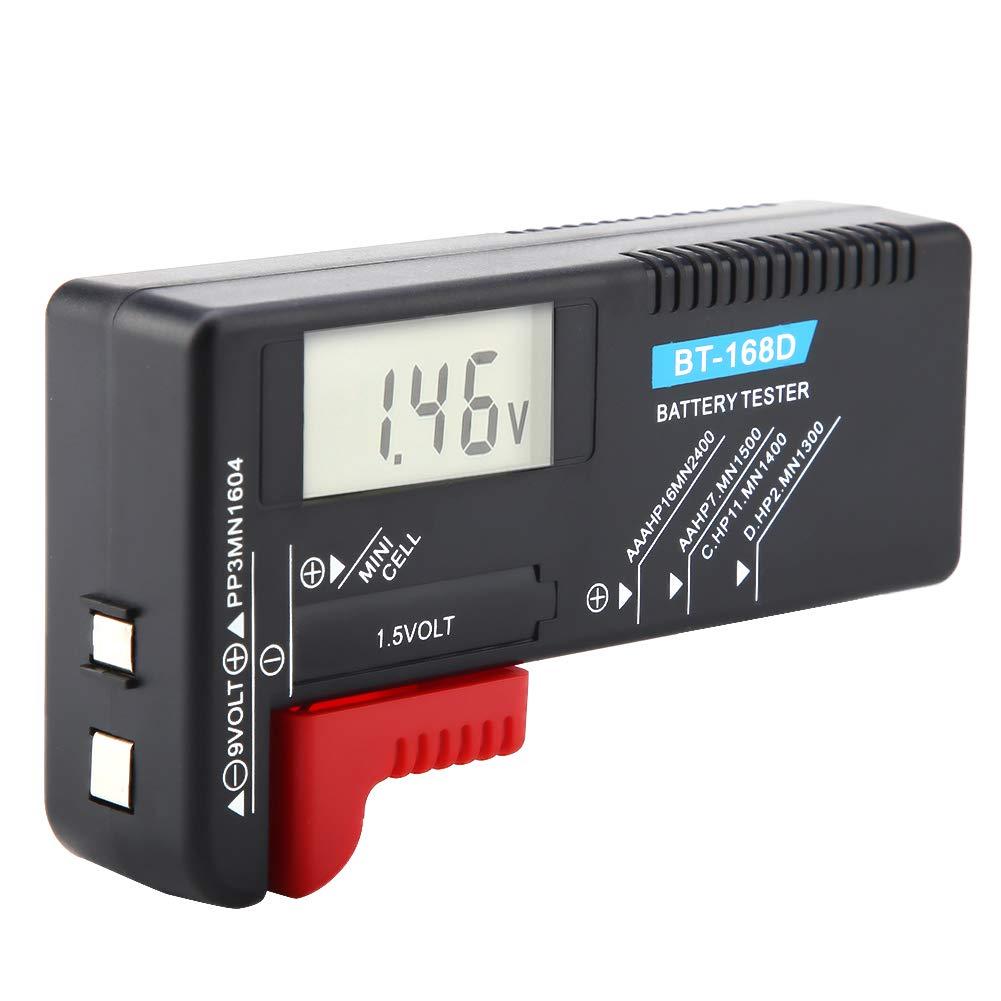 Universal Battery Checker Battery Volt Tester Digital Battery Volt Tester Volt Tester BT-168D Battery Tester Button Cell Battery for Battery
