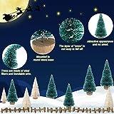 LOVEXIU Mini Weihnachtsbaum Deko,24 StüCk Miniatur Weihnachtsbaum KüNstlicher,Winter Ornamente Mini Modell Weihnachtsbaum Mini Tannenbaum füR Weihnachtsfeier Tischdeko,DIY,Schaufenster (GrüN/Weiss) - 3