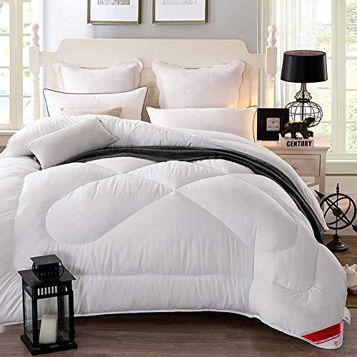 MRTYU-UY Edredón de terciopelo de plumas, 13,5 tog – Tamaño de cama king – Contiene un 40% de abajo, el más alto es el 'Down' Conte