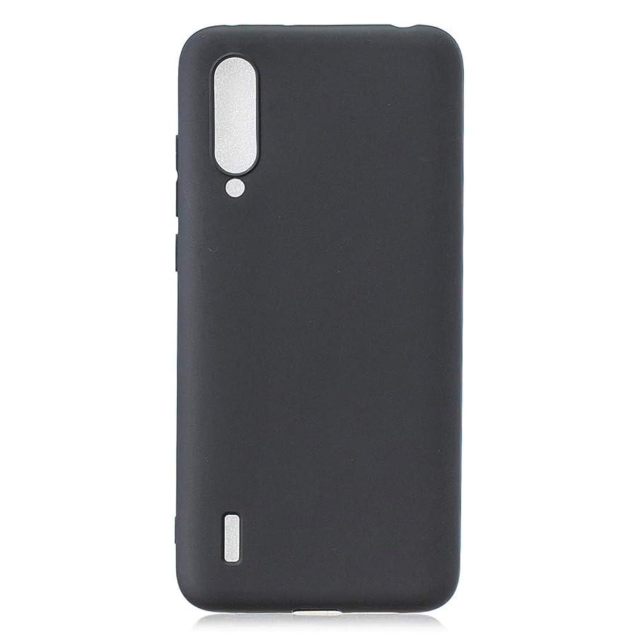 瞑想的流す雑多な小米科技CC9 / A3 Liteのつや消しソリッドカラーTPU保護ケース(レッド) brand:TONWIN (Color : Black)