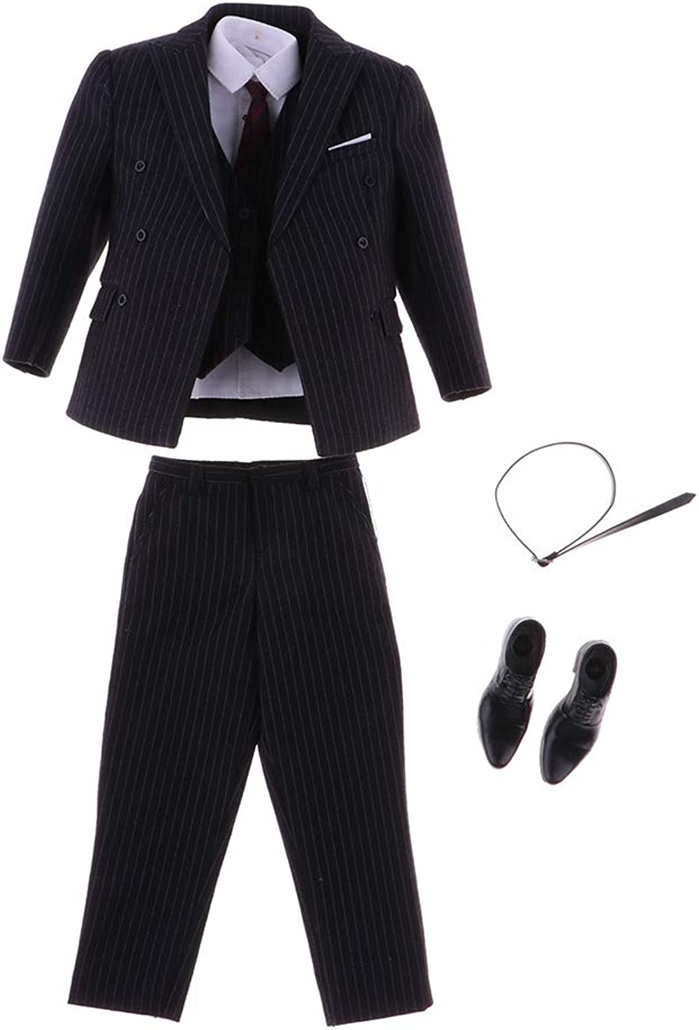 B Blesiya 1 6 Suit Coat Shirt Pants shoes Full Set for 12inch Sideshow Hot Toys Figures  as described, A