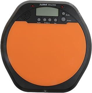 Fenteer オレンジ 液晶デジタル ドラム 練習用 メトロノーム ドラマー 使いやすい 贈り物 ギフト